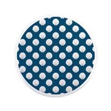 "Clamshells Round W Nautical Blue 3.5"" Button"