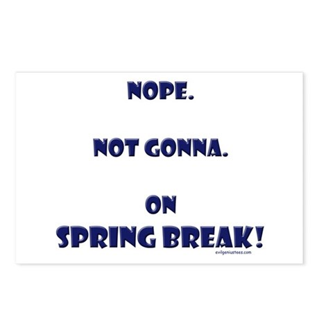 On spring break Postcards (Package of 8)