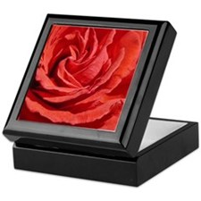 Red Rose Macro Keepsake Box