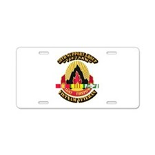 38th Support Group w SVC Ribbon Aluminum License P