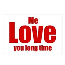 Me love you long time Postcards (Package of 8)