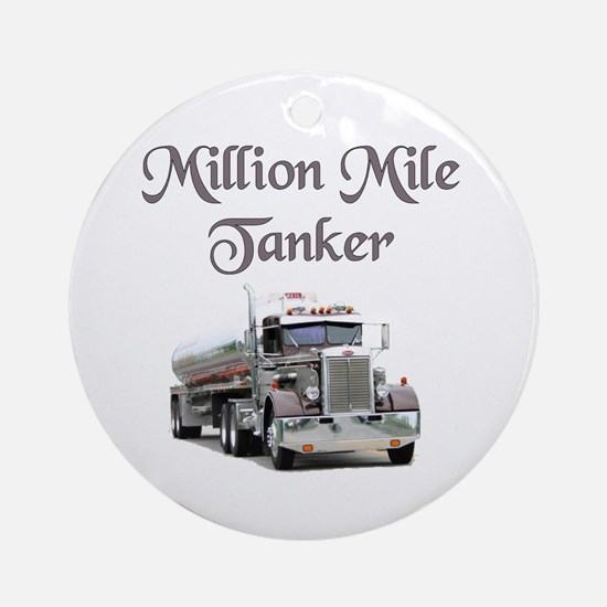Million Mile Tanker Ornament (Round)