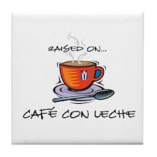 Cafe con Leche 2 Tile Coaster
