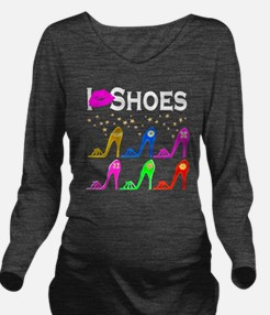LOVE SHOES Long Sleeve Maternity T-Shirt