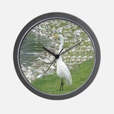 The Egret man allover Wall Clock