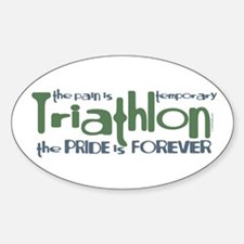Triathlon - The Pride is Forever Oval Decal