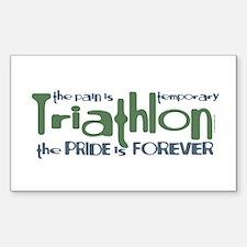 Triathlon - The Pride is Forever Sticker (Rectangu