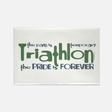 Triathlon - The Pride is Forever Rectangle Magnet