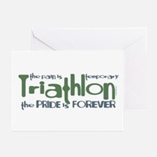 Triathlon - The Pride is Forever Greeting Cards (P