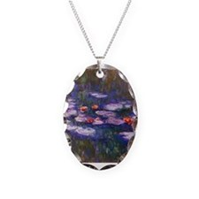 Monet Blue Waterlilies Necklace