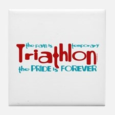 Triathlon - The Pride is Forever Tile Coaster