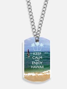 Keep Calm and Enjoy Hawaii (iPhone 5 Case Dog Tags
