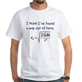 Escape velocity t shirt Mens White T-shirts