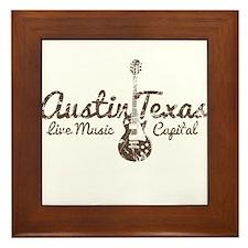 Austin Texas Live Musick Capital Framed Tile