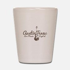 Austin Texas Live Musick Capital Shot Glass