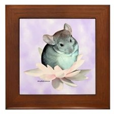 Chin Lily Purple Framed Tile
