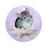 Chinchillas Round Ornaments