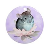 Chinchilla Round Ornaments