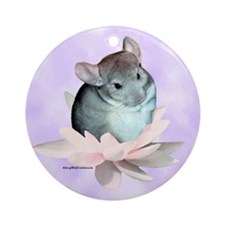 Chin Lily Purple Ornament (Round)