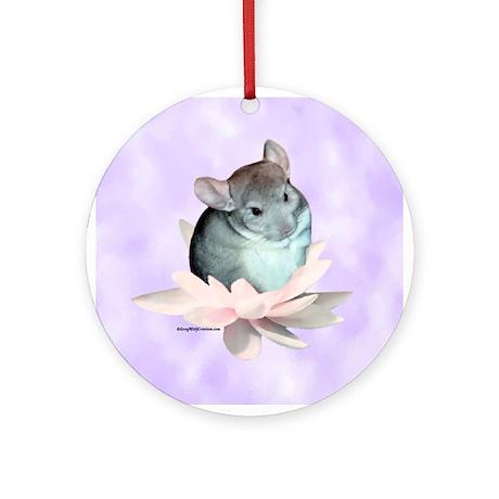 Chin Lily Purple Ornament (Round)