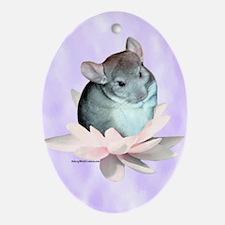 Chin Lily Purple Oval Ornament