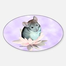 Chin Lily Purple Oval Decal