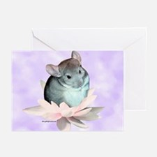 Chin Lily Purple Greeting Cards (Pk of 10)