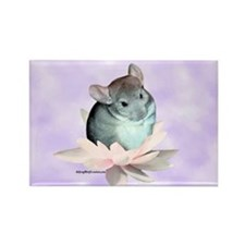 Chin Lily Purple Rectangle Magnet