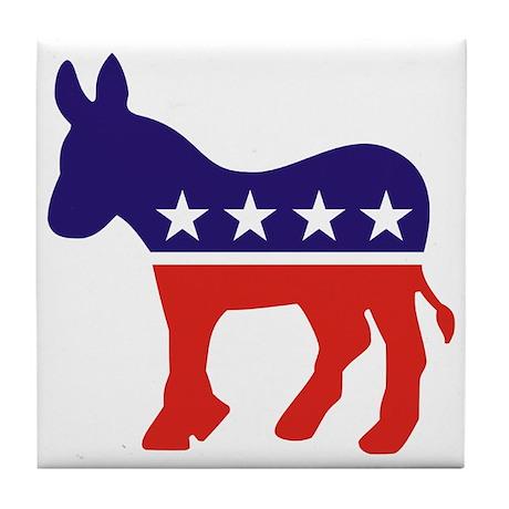 Democrat Donkey v4 Tile Coaster