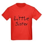 Little Sister (Black Text) Kids Dark T-Shirt