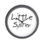 Little Sister (Black Text) Wall Clock