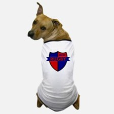 Rugby Shield Blue Red Dog T-Shirt