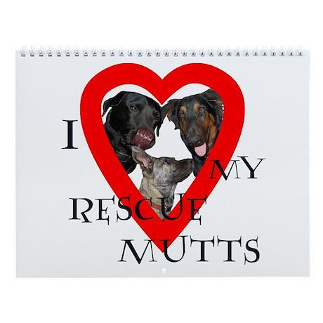 Rescue Mutt Wall Calendar