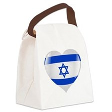 Heart for Israel Canvas Lunch Bag
