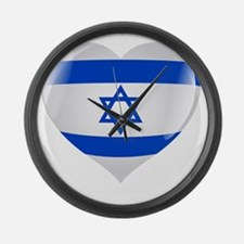 Heart for Israel Large Wall Clock