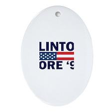 Clinton - Gore 92 Oval Ornament