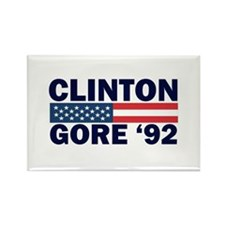 Clinton - Gore 92 Rectangle Magnet