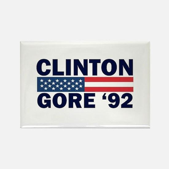 Clinton - Gore 92 Rectangle Magnet