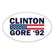 Clinton - Gore 92 Oval Decal