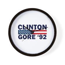Clinton - Gore 92 Wall Clock