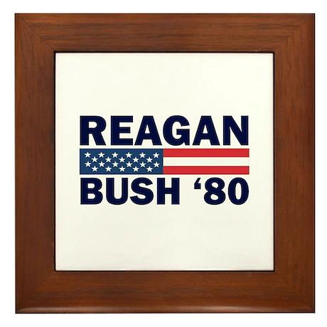 Reagan - Bush 80 Framed Tile