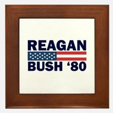 Reagan - Bush 80 Framed Tile