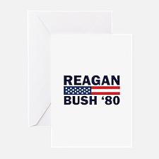 Reagan - Bush 80 Greeting Cards (Pk of 10)