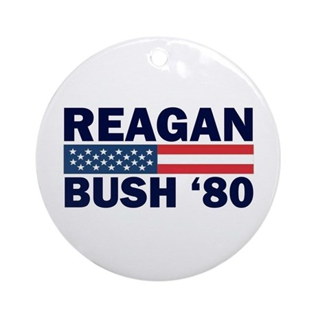 Reagan - Bush 80 Ornament (Round)