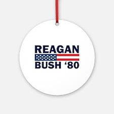 Reagan - Bush 80 Ornament (Round)