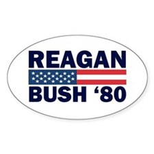 Reagan - Bush 80 Oval Decal