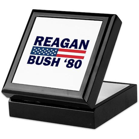 Reagan - Bush 80 Keepsake Box