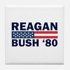 Reagan - Bush 80 Tile Coaster