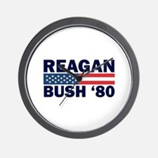 Reagan - Bush 80 Wall Clock