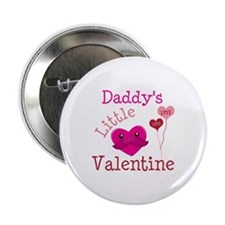 """Daddy's Little Valentine 2.25"""" Button (10 pack)"""